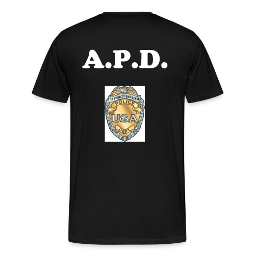 Support Police - (Customize to Your PD) - Men's Premium T-Shirt
