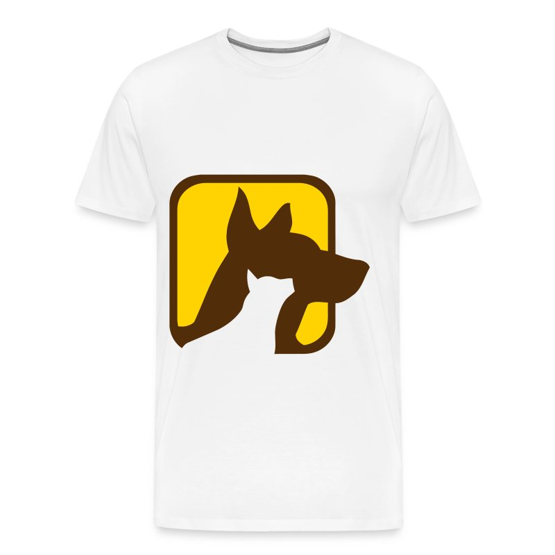 Dog and cat Silhoutte - Men's Premium T-Shirt