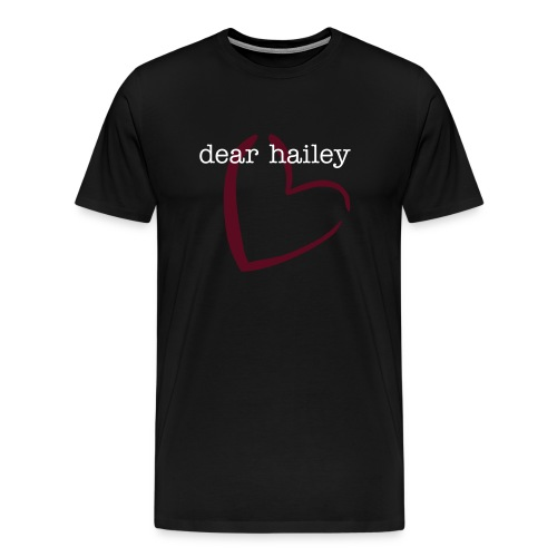 dear hailey in black - Men's Premium T-Shirt
