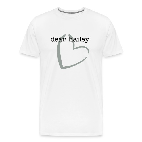 dear hailey in white - Men's Premium T-Shirt