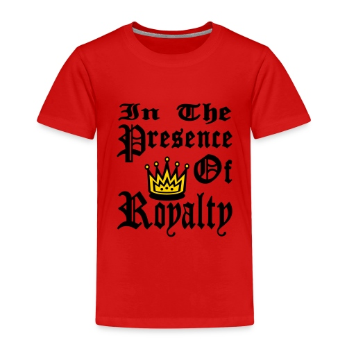Kool Kids Tees 'In The Presence of Royalty' Toddler Tee in Red - Toddler Premium T-Shirt