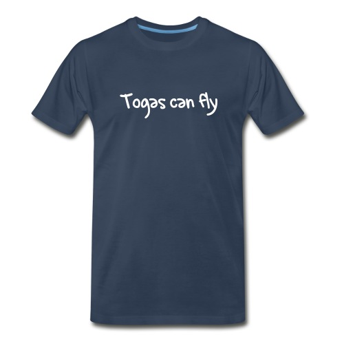 Blue Flying Toga Tee - Men's Premium T-Shirt