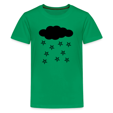 Kelly green Pentacle Rain Kids Shirts