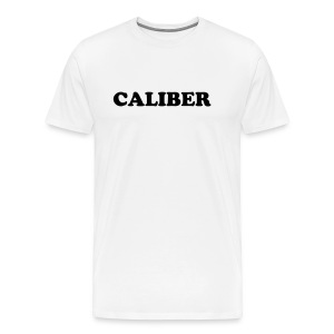 Caliber - Standard Black on White - Men's Premium T-Shirt