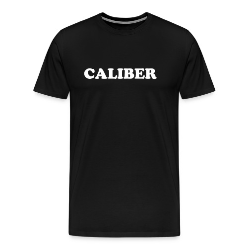 Caliber - Standard White on Black - Men's Premium T-Shirt