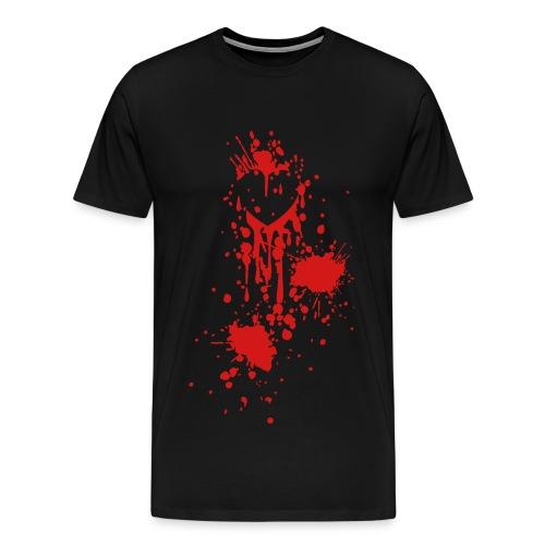 Zombie attack heart - Men's Premium T-Shirt