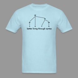 Better Living Through Syntax - Men's T-Shirt