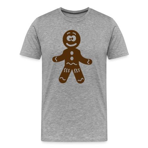 Grey Tshirt Gingerbread Man - Men's Premium T-Shirt