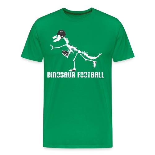 Dino Football Tee (white dino, white print) - Men's Premium T-Shirt