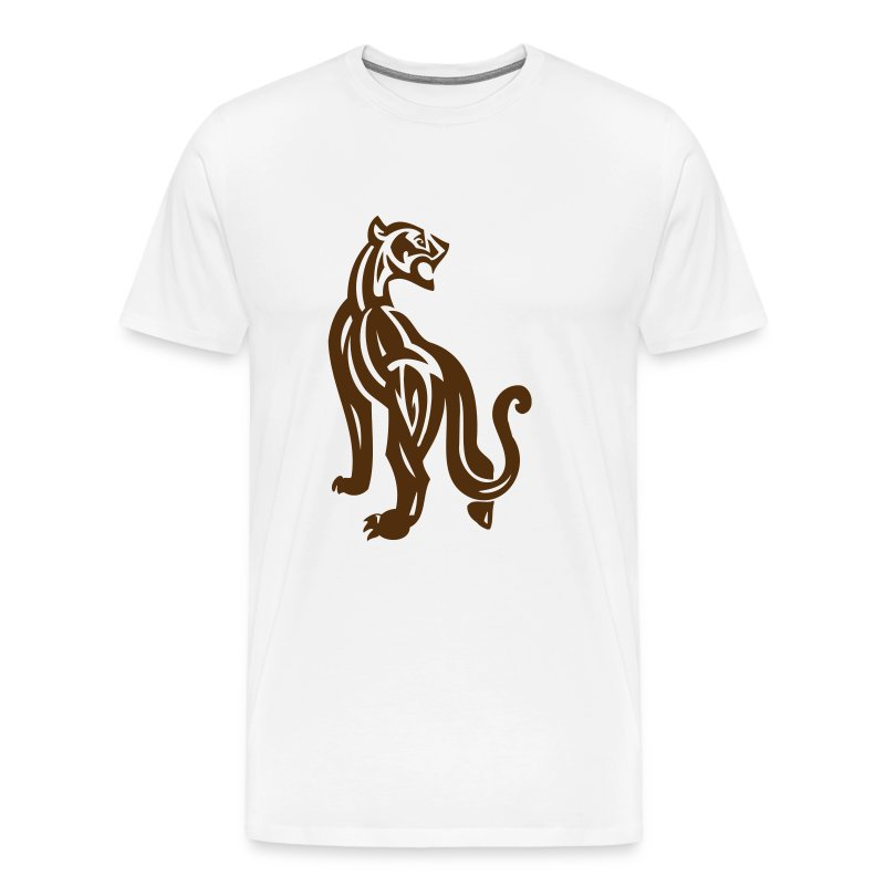 Wild Large Cat on the Prowl - Men's Premium T-Shirt