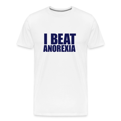 I beat Anorexia - Men's Premium T-Shirt
