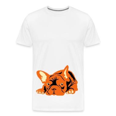 Natural French Bulldog big T-Shirts