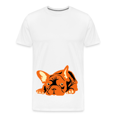 Natural French Bulldog big T-Shirts