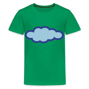 Kelly green Cloud Kids Shirts