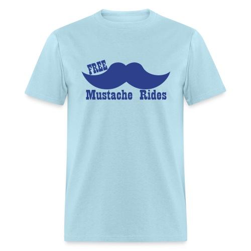 Free Mustache Rides - Men's T-Shirt