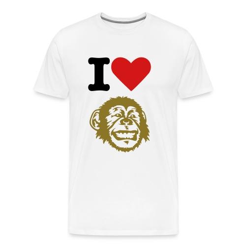 I Love monkey - Men's Premium T-Shirt