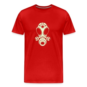 Gas Mask T-Shirt -Glow In The Dark Logo- (Men's) Available in 16 colors - Men's Premium T-Shirt
