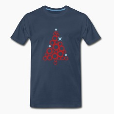 Navy Holiday tree - 2 Color T-Shirts