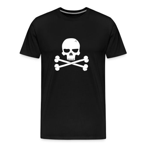Skull & Crossbones 01 - Black - Men's Premium T-Shirt