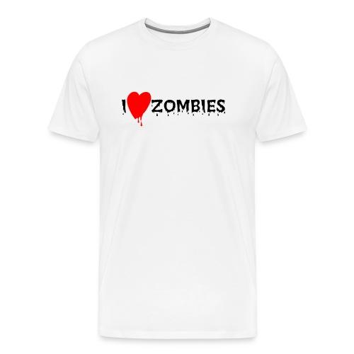 I love ZOmbies - Men's Premium T-Shirt