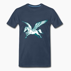 Navy Flying Horse T-Shirts