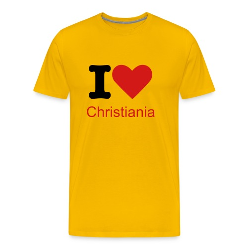 I love Christiania - Men's Premium T-Shirt
