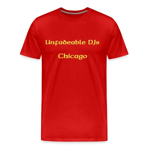 Red/Gold Unfadeables Chicago - Men's Premium T-Shirt