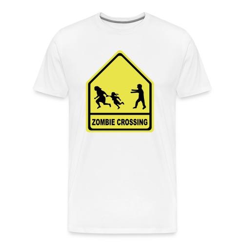beware of the zombie - Men's Premium T-Shirt