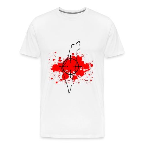Target - Palestine(White) - Men's Premium T-Shirt