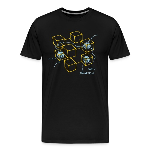 CM-1 men's black gold/light-blue - Men's Premium T-Shirt