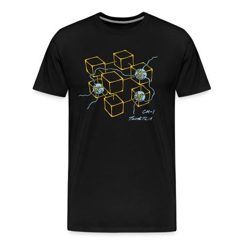 CM-1 men's black gold/light-blue - Men's Premium T-Shirt