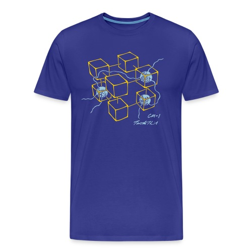 CM-1 men's blue gold/light-blue - Men's Premium T-Shirt