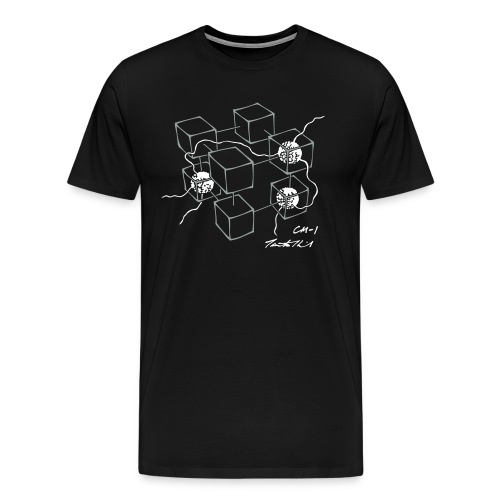 CM-1 men's black grey/white - Men's Premium T-Shirt