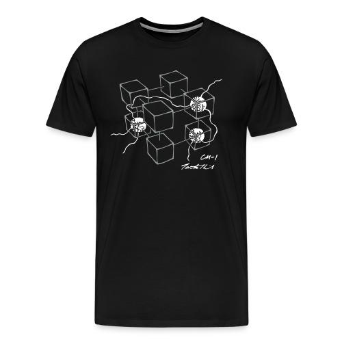 CM-1 men's black grey/white - Men's Premium T-Shirt