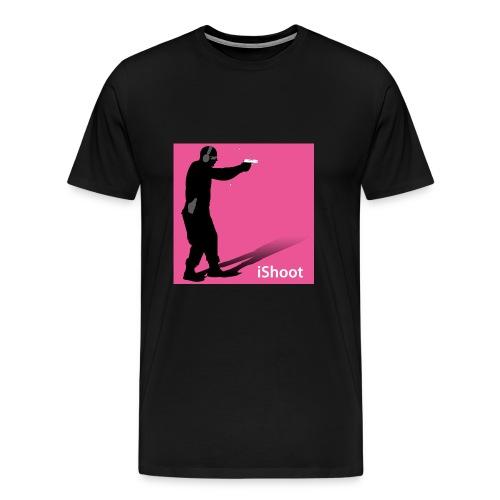 iShoot pink on black tee - Men's Premium T-Shirt