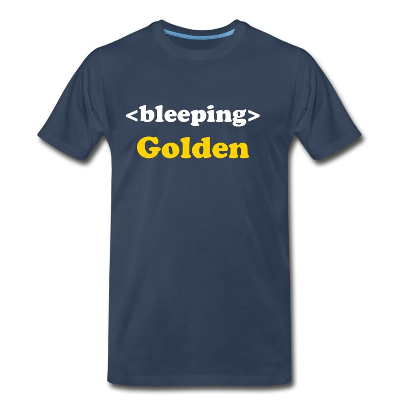 <bleeping> Golden - Men's Premium T-Shirt