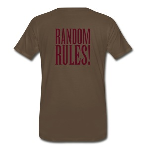 Panto Random Rules Brown Shirt - Men's Premium T-Shirt