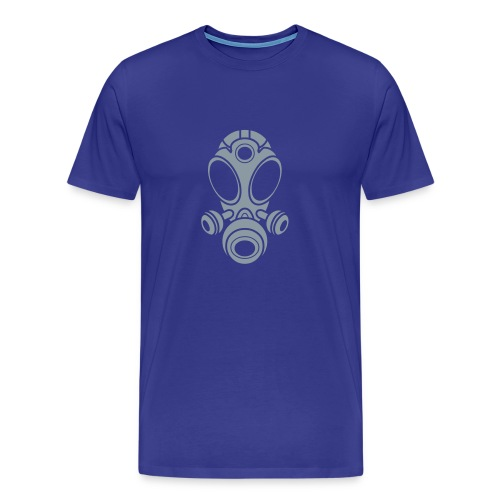 Gas Mask T-Shirt -Metallic Silver Logo- (Men's) Available in 16 colors - Men's Premium T-Shirt