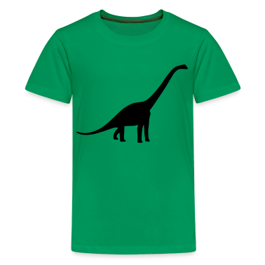 Kelly green Dinosaur - Long Neck Kids Shirts