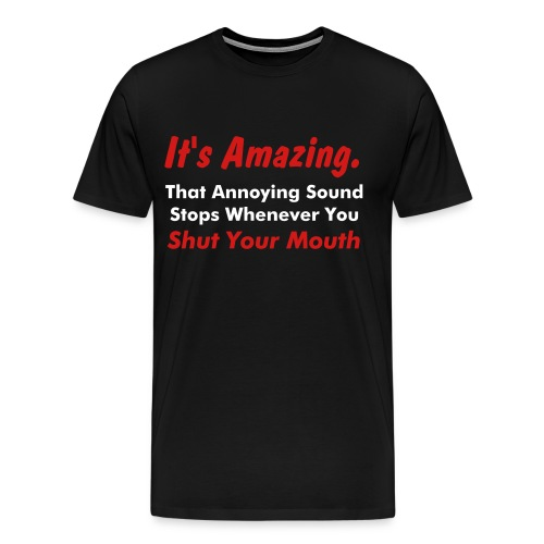 The Sound of Silence - Men's Premium T-Shirt
