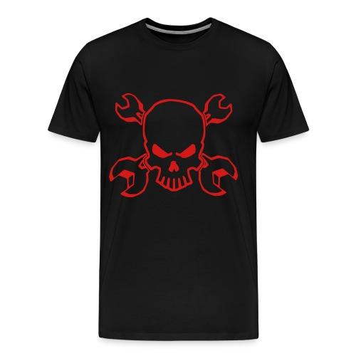 Wrench Skull red - Men's Premium T-Shirt