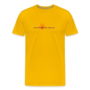 Panto Fifth Anniversary Shirt Yellow - Men's Premium T-Shirt