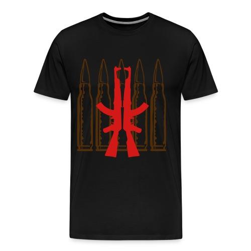 Men's Premium T-Shirt - mobsters,mob,mafia wars,mafia,guns,gunmen,gun,ammo