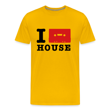 Yellow i love house music T-Shirts