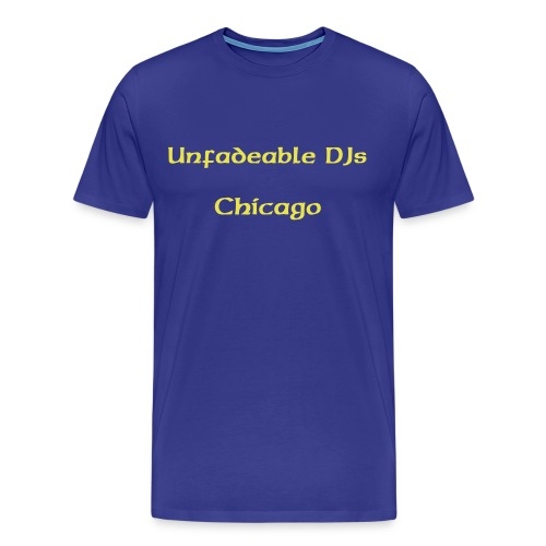Gold/blue Unfadeables Chicago - Men's Premium T-Shirt