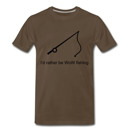 WoW Fishing - Men's Premium T-Shirt