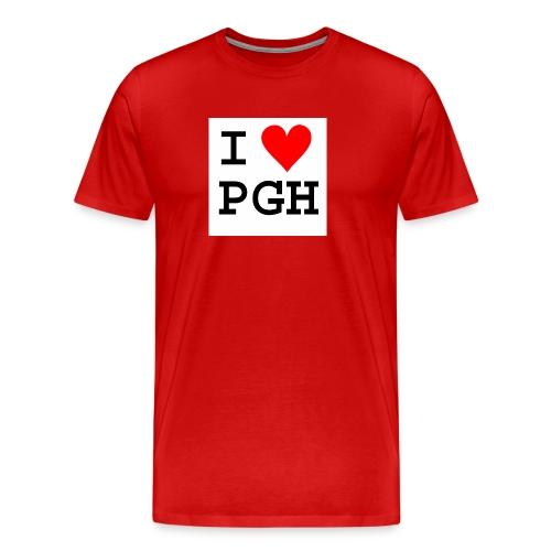 I heart PGH T-shirt Red - Men's Premium T-Shirt