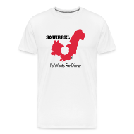 T-Shirts ~ Men's Premium T-Shirt ~ Squirrel - It's What's For Dinner