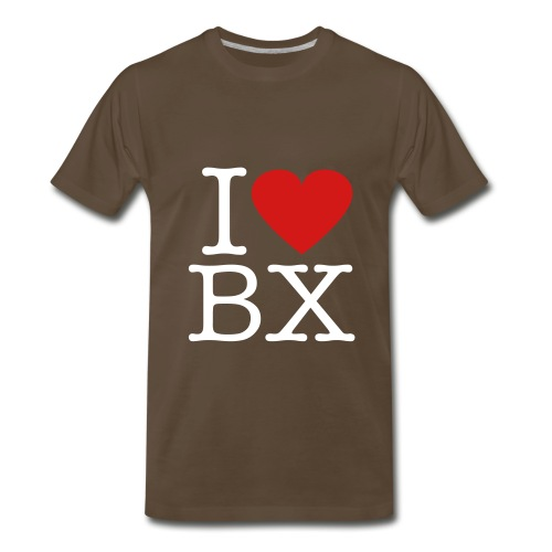 Brown I LOVE BX Tee - Men's Premium T-Shirt