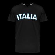 T-Shirts ~ Men's Premium T-Shirt ~ 3XL ITALIA Logo T, Black